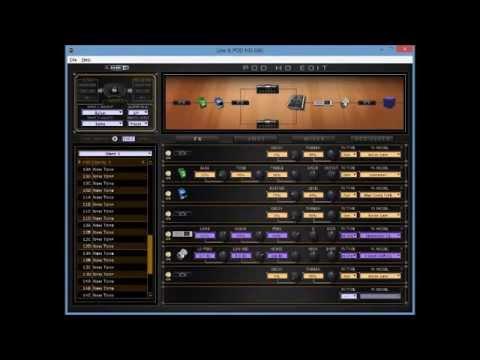 Pod HD Tone (Djent) with Ibanez Apex 2