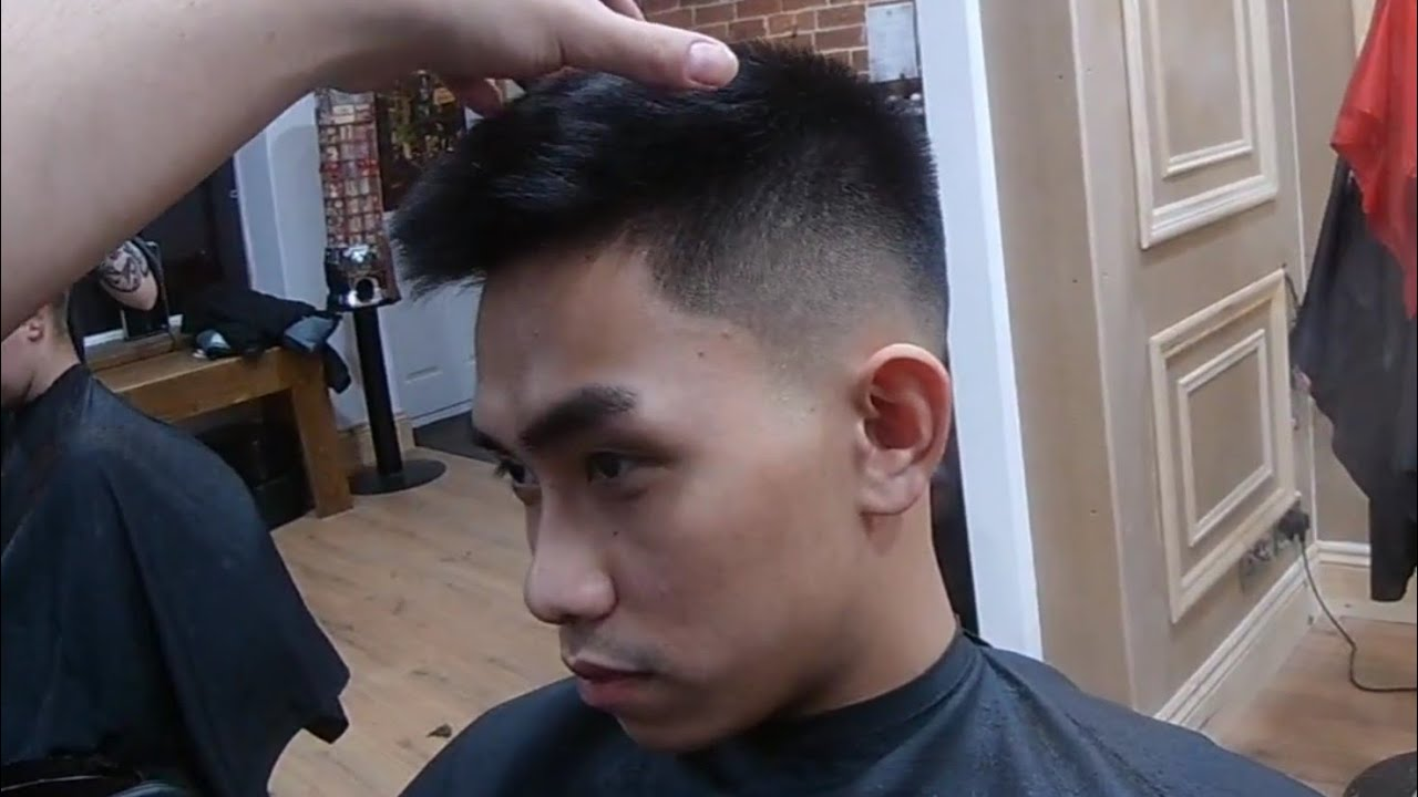SKIN FADE ON STRAIGHT ASIAN HAIR