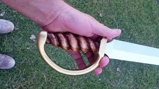 Hey guys! In this video I make a realistic sword for my nephew Cole, from only a pinewood 2X4 and some paint. I made it over one weekend. If you like this, ...