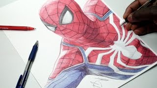 Spider-Man Pen Drawing - (Playstation 4) PS4 - DeMoose Art