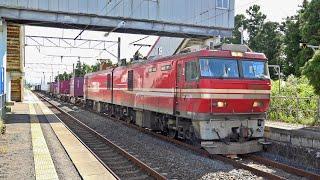 平成30年9月撮影。EH800牽引3063列車は、当時のダイヤでは奥内で上り普通気動車、青森行きと交換のため一旦停車する。動画は気動車発車の後、306...