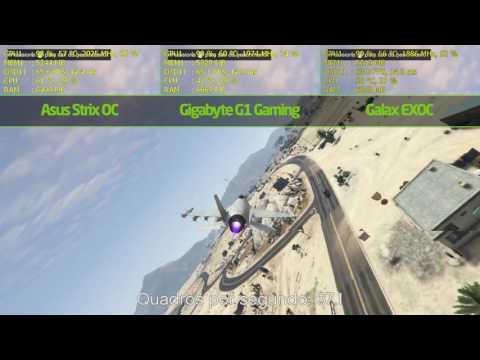 GTX 1080 Strix « VS » GTX 1080 G1 Gaming « VS » GTX 1080 EXOC - GTA V 1440p de YouTube · Alta definición · Duración:  2 minutos 31 segundos  · Más de 20.000 vistas · cargado el 26.07.2016 · cargado por Pichau
