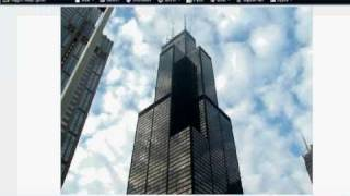 Sears tower (Willis tower) drawing and graffiti