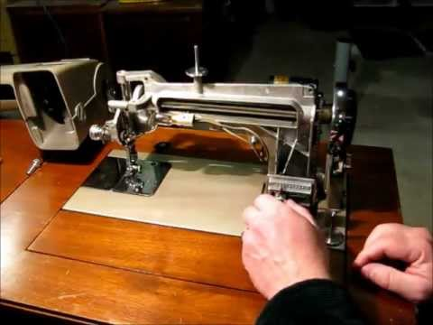 Kenmore 4040 Sewing Machine Demonstrating Buttonhole And Zigzag Interesting Sewing Machine Buttonhole Attachment
