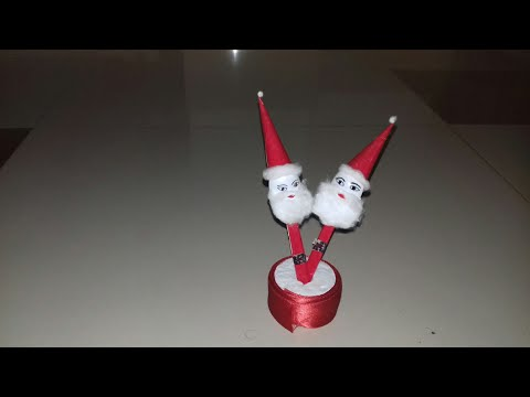 Recycle craft idea /DIY Christmas craft /How to make santa claus (40)