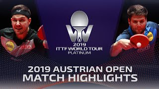 Дмитрий Овчаров vs Timo Boll | Austrian Open 2019 (1/4)