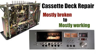 REPAIRING the Flip-Clock Cassette Deck - Pioneer CT-50T