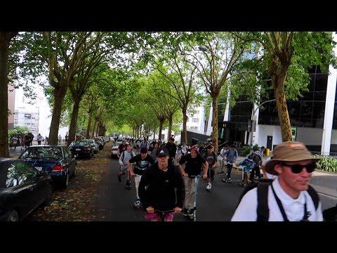 HUGE SCOOTER STREET JAM! ft; SCOOTERBRAD!