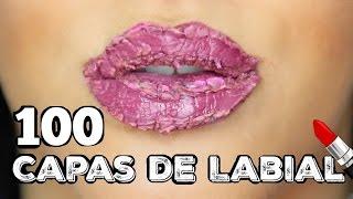 100+ Capas de Labial Liquido Challenge JasminMakeup1