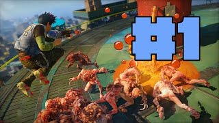 Sunset Overdrive Xbox One Walkthrough Part 1 - Bearded Lady