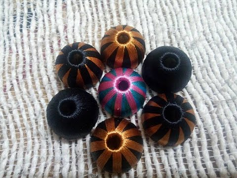 How to Wrap Multi Color silk thread Jhumka  PART 1- Tutorial