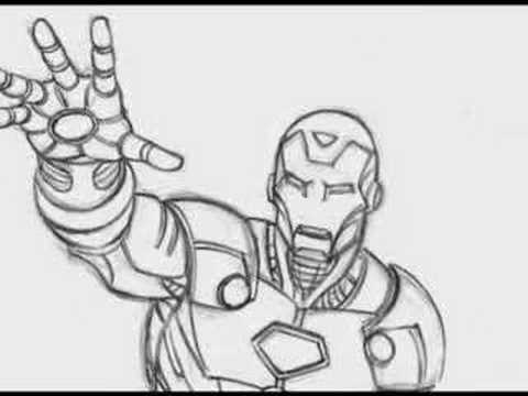how to draw iron man mark 47