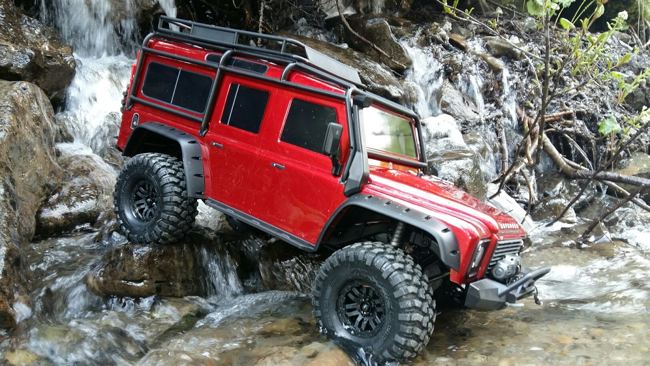 Next Land Rover Defender >> TRAXXAS TRX4 Defender scale . - YouTube