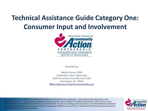 Category 1   Consumer Input and Involvement
