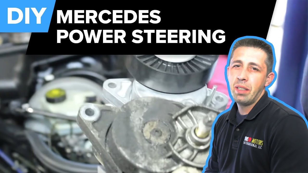 mercedes power steering replacement pump reservoir drive belt tensioner e320  [ 1280 x 720 Pixel ]