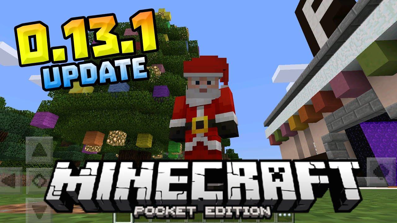 0.13.1 NEW MCPE UPDATE!!! - Christmas Skins & New Menu Screen - Minecraft PE (Pocket Edition ...