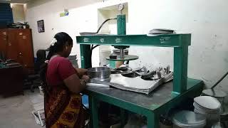 Paper plate making machine with buy back