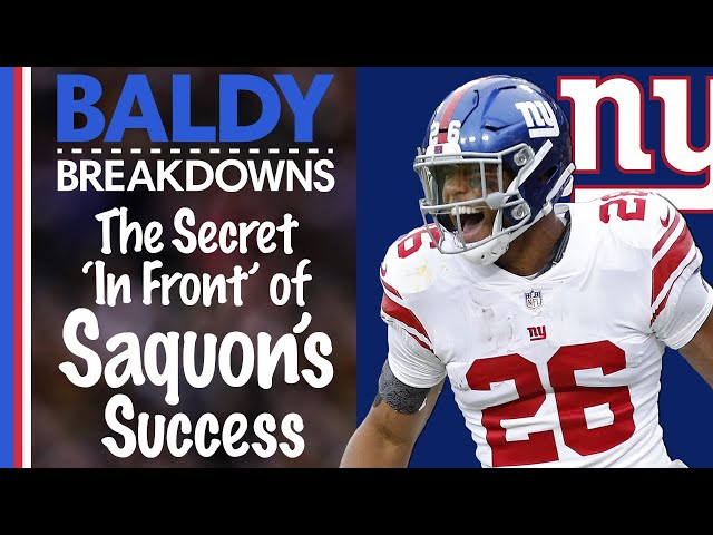 The Secret 'In Front' of Saquon Barkley's Success | Baldy Breakdowns