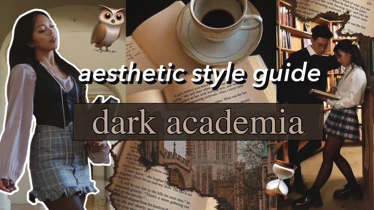 Download AESTHETIC STYLE GUIDE: Dark Academia | Episode 2 | outfit ideas, visual moodbooard, movie recs, etc!