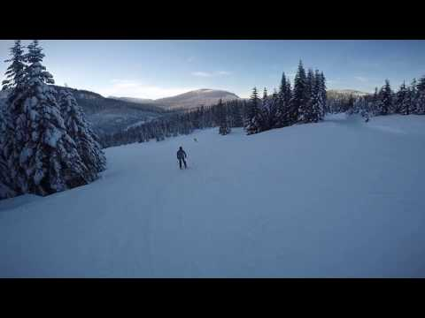 Skiing at Snoqualmie Pass (West Summit) 14.01.2017