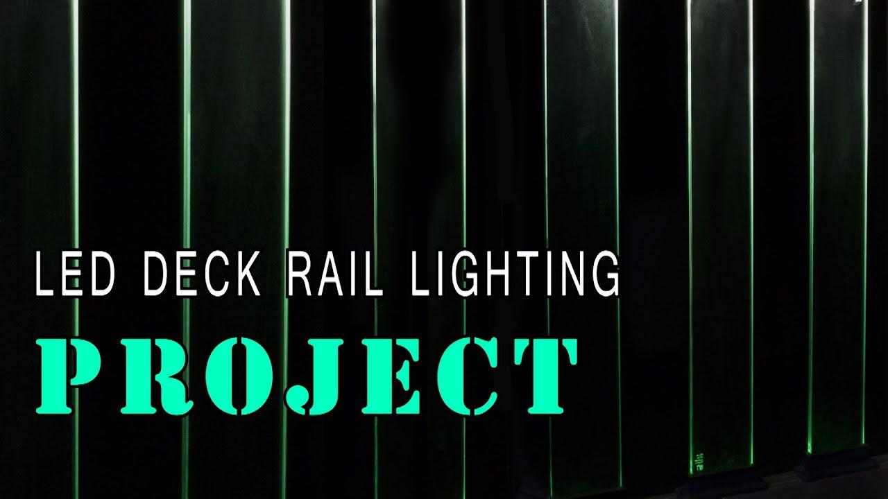 led glass deck railing youtube. Black Bedroom Furniture Sets. Home Design Ideas