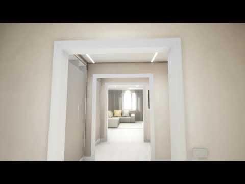 3D тур по 4x комнатной квартире. Визуализация интерьера.