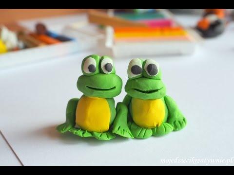 Jak ulepić żabę z plasteliny? / how to make play doh frog - YouTube