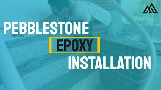 Morales Painting : Pebblestone epoxy flooring Installation
