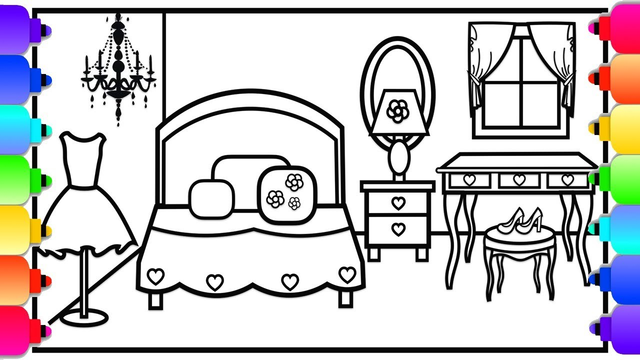 920 Top Coloring Pages For Bedroom  Images