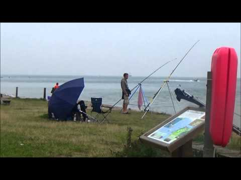 Uk Shore Fishing .Dover Sole Session 2. Fort Victoria. Isle Of Wight. 13/8/2015.  Uk Beach Fishing.