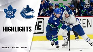 Maple Leafs @ Canucks 4/20/21 | NHL Highlights