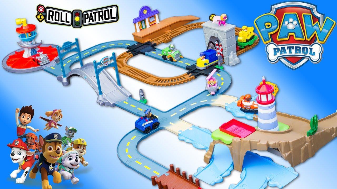 paw patrol roll patrol mega pack 3 en 1 pat patrouille piste grande vall e jouet toy review. Black Bedroom Furniture Sets. Home Design Ideas