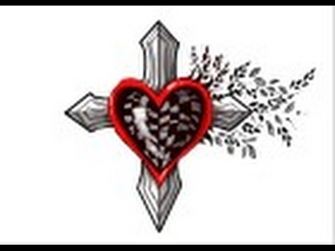 how to draw tribal cross with a heart youtube