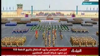 رد فعل السيسي بعد إعطاء مدير معهد ضباط الصف التحية للمشير طنطاوي (فيديو) | المصري اليوم