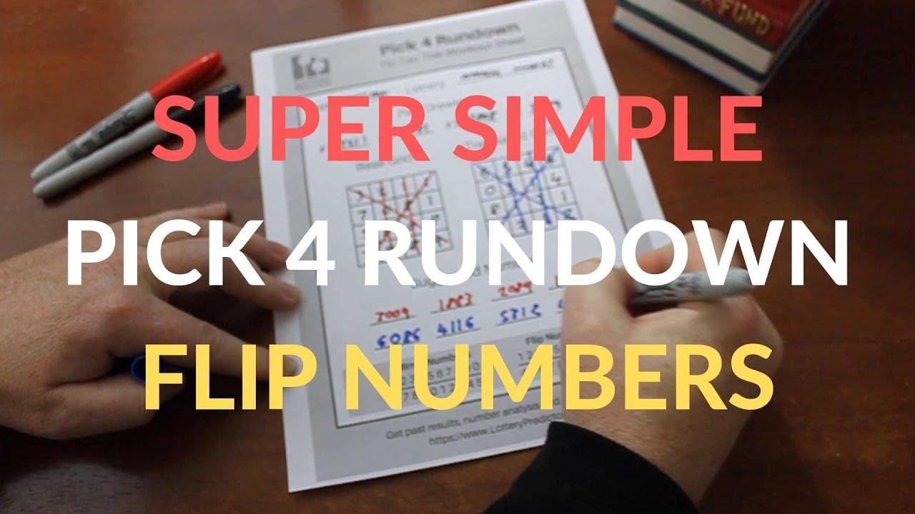 Super Simple Pick 4 Rundown Using Flip Numbers