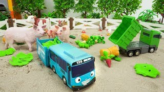Tayo the Little Bus Toy Play Learn Farm Animals Names Toys for Children