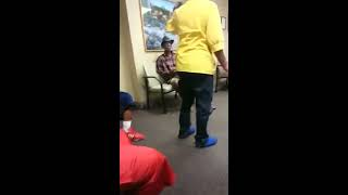 A Couple Arguing In The Doctors Office