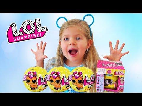 Диана открывает LOL PETS подделка и оригинал ЛОЛ игрушки
