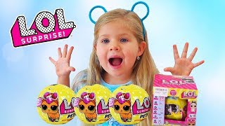 Diana opens  LOL PETS surprise for Kids, Fake Vs. Real