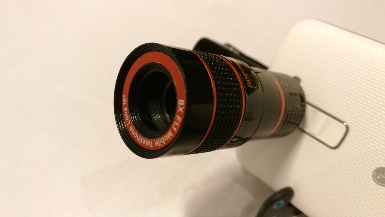 Apexel mobile phone dual lens wide angle lens and telescope camera
