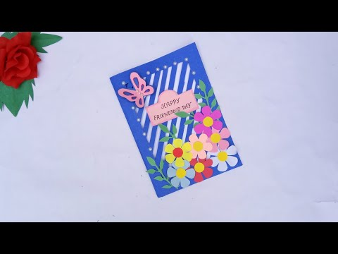 How to make beatiful handmade happy friendship day card // Diy friendship day card