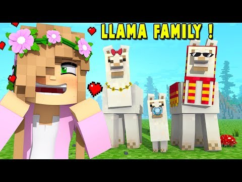 ADOPTING A LLAMA FAMILY! | Minecraft Little Kelly Survival