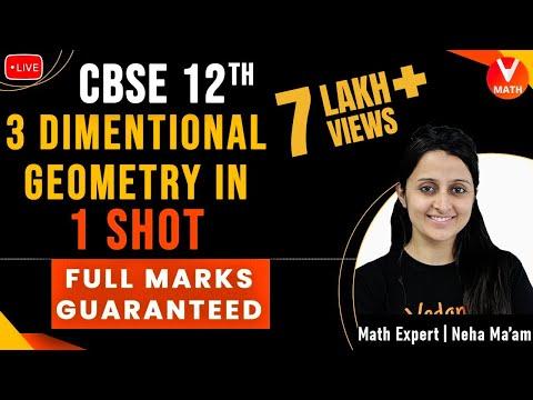3D Geometry Class 12 in 1 Shot By Neha Ma'am | 12th Boards | Full Marks Guaranteed | Vedantu Math