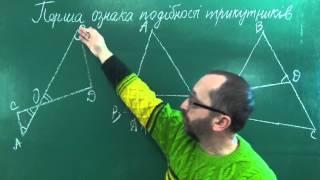 Перша ознака подібності трикутників 1 - Геометрія 8 клас