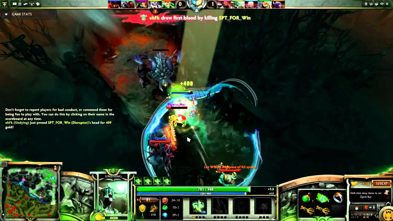 Undying  take rochan + first blood+ rampage in lvl 1 solo wtff