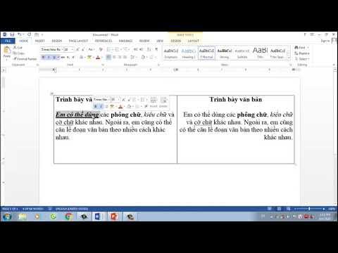 Tin học lớp 3_Tuần 23_Bài 5_Chọn kiểu chữ, căn lề