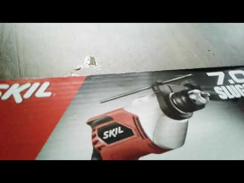 Unboxing video of SKIL 7.0A SLUGGER! A Drill with a cord