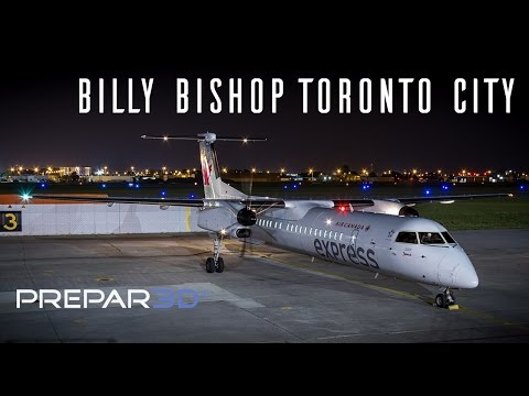Prepar3D - Dash 8-Q400  - Landing at Billy Bishop Toronto City - TrackIR