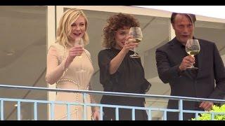 Jury members Kristen Dunst, Vanessa Paradis and Mads Mikkelsen having fun in Cannes