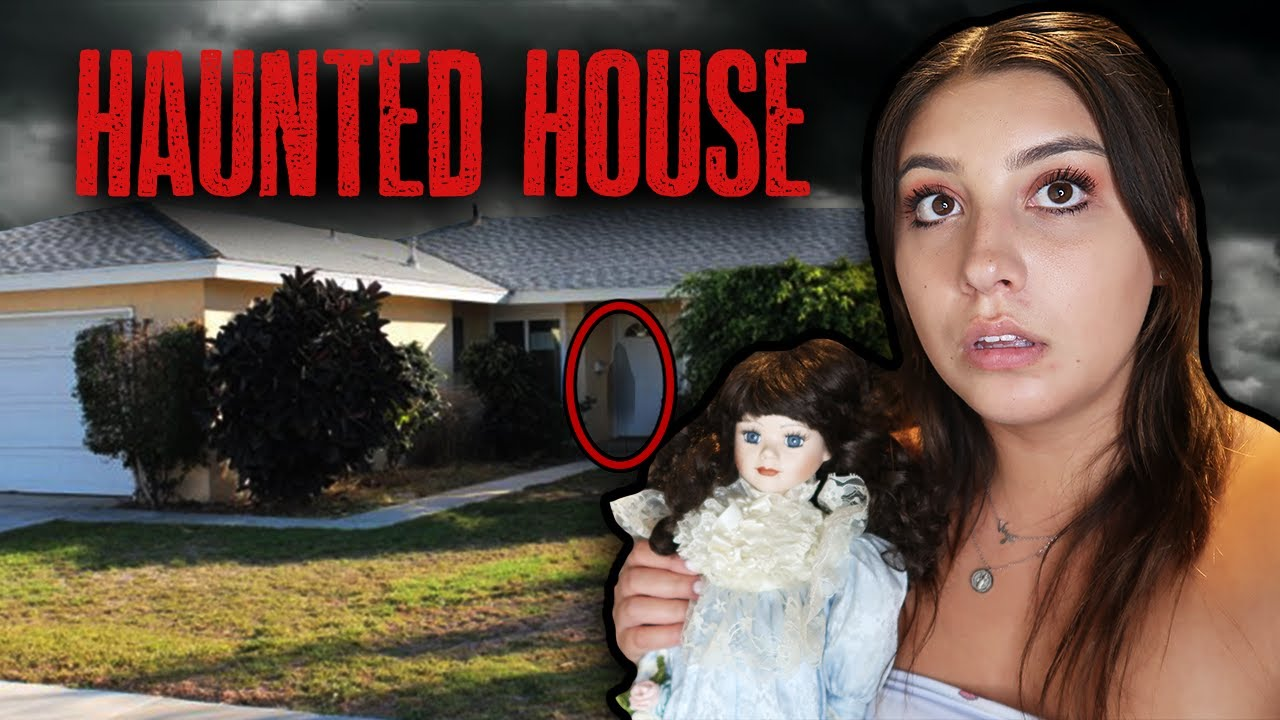 STAYING AT MY FRIENDS HAUNTED HOUSE (CREEPY)